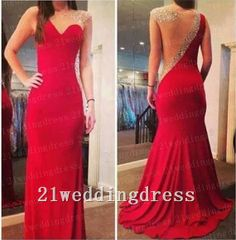 Sexy Open Back Red Long Prom DressProm Dresses by 21weddingdress, $179.99