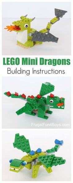 Basteln mit Kids/ Kreativideen LEGO Mini Dragon Building Instructions - Education Professional Photography Today, there are many photograp. Craft Activities For Kids, Projects For Kids, Crafts For Kids, Craft Projects, Baby Activities, Preschool Learning, Lego Duplo, Lego Ninjago, Manual Lego