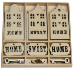Wood Icons ~ Home Sweet Home