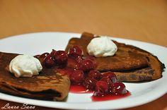 Clatite Padurea Neagra   Retete culinare cu Laura Sava Waffles, Pancakes, Deserts, Pie, Breakfast, Sweet, Torte, Morning Coffee, Candy