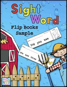 FREE! Here's a fun way to practice sight word fluency! This sample set of 6 sight word flip books is just right for beginning readers. Like the larger set, it covers words from the pre-primer and primer Dolch sight word lists. Each flip book requires students to read the sight word sentence 5 times.