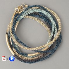 Layering Bracelet - Wire Jewelry VIDEO pattern – Yooladesign