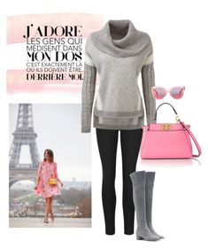 """""""Parisienne Stroll!"""" by briannaandrews500 ❤ liked on Polyvore featuring Indigo Collection, Gianvito Rossi, MINKPINK, Fendi, women's clothing, women's fashion, women, female, woman and misses"""
