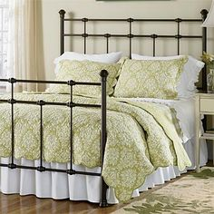 $525.00  A handsome update to the classic metal bed, this affordable design features a geometric silhouette with clean, crisp lines. With a hammered brown finish. Metal bed headboard available separately.