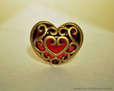 Full Heart Piece Pendant Legend of Zelda Skyward Sword Necklace Keychain.