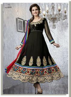 I found this beautiful design on Mirraw.com $84 Product ID :127624 Type :Anarkali salwar kameez Designer :ZAHARA