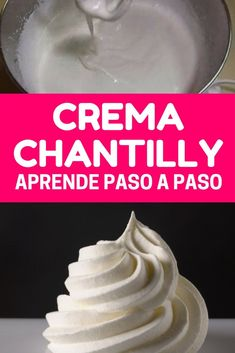 Crema chantilly ¡Tus tartas y postres te van a quedar bonitas y deliciosas! Recipes With Whipping Cream, Cream Recipes, Flan, Bakery Recipes, Cooking Recipes, No Egg Desserts, Chantilly Cream, Frosting Tips, Chocolate Sweets