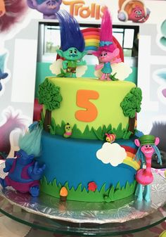 Trolls Birthday Cake! Shared Birthday Parties, 1st Boy Birthday, Birthday Ideas, Birthday Cake, Trolls Party, Trolls Birthday Party, Holiday Party Themes, Party Ideas, First Birthdays