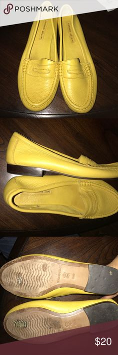 ANTONIO MELANI YELLOW FLAT PENNY LOAFER SZ 9 1/2M ⭐️🎓FUNDRAISING FOR COLLEGE⭐️🎓 EUC  PRISTINE CONDITION ANTONIO MELANI YELLOW FLAT PENNY LOAFER SZ 9 1/2M soft-comfortable--FAUX penny entrance ANTONIO MELANI Shoes Flats & Loafers
