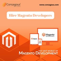 Hire magento developers from Consagous technologies. We at Consagous with highest success rate offer fully flexible online store development through magento and turn your idea into reality and establish your online store.