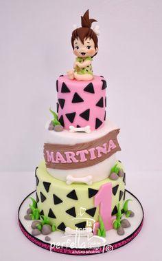 Flinstones Birthday Cupcake Cake