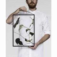MOEBE transparante fotoprint floating leaves #09