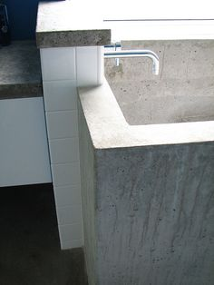 diy in situ concrete ofuro (japanese soaking tub)