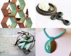 Turquoise and brown by Eszter on Etsy--Pinned with TreasuryPin.com