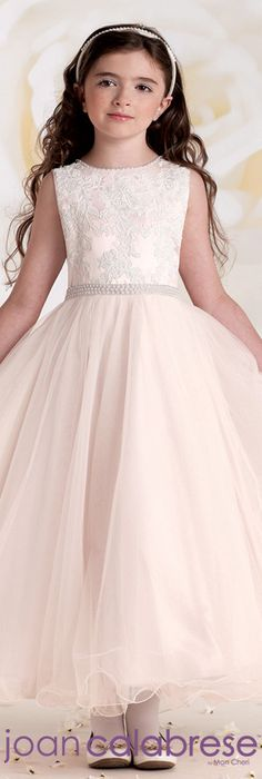 Joan Calabrese for Mon Cheri - Style No. 115302 #flowergirldresses calabresegirl.com