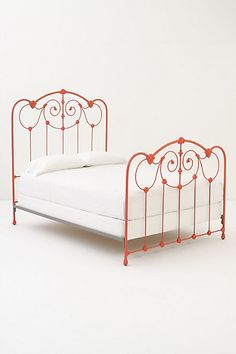 don't get me wrong, i'm enamored with my wrought iron bed from anthropologie, but if i ever get a guest bedroom, this guy is going in there Painted Iron Beds, Painted Metal, Bedroom Furniture, Home Furniture, Painted Furniture, Interior Exterior, Interior Design, Interior Ideas, Wrought Iron Beds