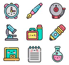 50 premium vector icons of Back to School designed by Freepik School Icon, Cute Cartoon Characters, Doodle Icon, Doodle Art Journals, Kawaii Doodles, Galaxy Painting, Kawaii Wallpaper, Cute Icons, Instagram Highlight Icons