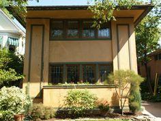 Buffalo, New York: Darwin D. Martin Gardener's Cottage: view from front...Frank Lloyd Wright