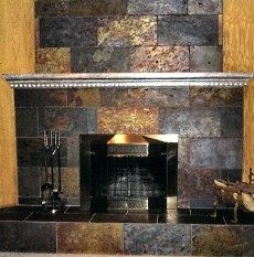 Slate Fireplace Ideas | ple and red, it is often mottled with more than one color and infused ...