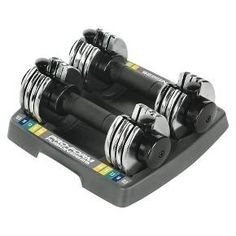 Tone your muscles using this pair of Reebok's adjustable dumbbells. Each dumbbell features adjustable weight for toning and strengthening the muscles around the chest, arms, back, shoulders and the triceps. The set comes with a storage rack for easy access and storage.