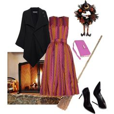 Witchy Wear by empirecase on Polyvore featuring House of Holland, Roland Mouret, Klix and Pottery Barn