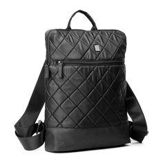 NOVA Backpack,nylon twill, quilted , 29 x 38 x 7,5 cm Black