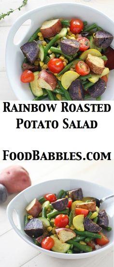Green beans, fresh corn, tomatoes, zucchini, summer squash and roasted potatoes in a lemon shallot vinaigrette!