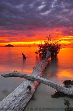 Sunset in Borneo, Sabah, Malaysia