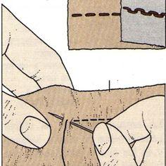 Costura a mano, Pespunte abierto