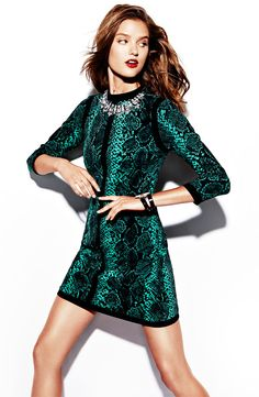 Office Soiree: Juicy Couture 'Python' Print Dress #Nordstrom #Holiday