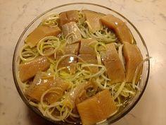Arenques en aceite de oliva y puerro. Receta llena de omega 3!!