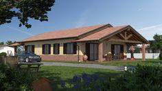 Progetto Casa in Legno Bipiano URB17 da 135 metri quadrati. Progettazione casa in legno personalizzata a seconda delle esigenze abitative