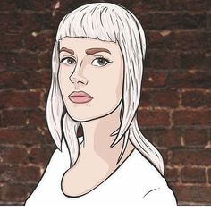 WEBSTA @ aurora_lunar - @cammers72 did a digital painting of me which I think is pretty cool