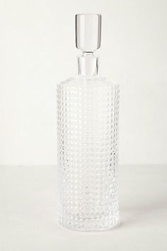 Crystalline Decanter - there's this one and a faceted one, if you want a fancy decanter #anthropologie
