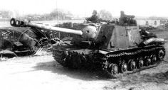 ISU-122 tank destroyer. Early model of the ISU-152 but remained in production because of an excess of 122mm guns.