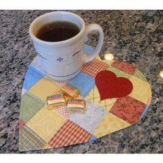 GO! Scrappy Heart Mug Rug Pattern - Free Quilt Patterns - Patterns