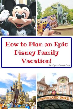 Are you planning a Family Disney Vacation this year? Check out these great planning tips from our resident Disney Vacation Experts.