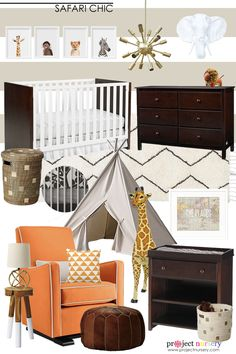Safari Chic Nursery Design Board - Project Nursery