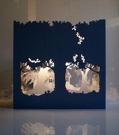 """lampada in legno affascinante """"The Magic Theatre"""""""