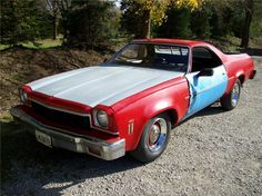 """""""The Real"""" 1973 454 Chevrolet El- Camino from the TV series My Name is Earl.  Currently residing in Switzerland."""