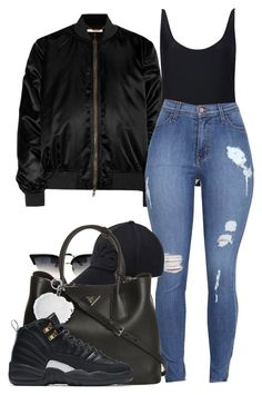 """ She a dime, but I always lose change"" by alexanderbianca ❤ liked on Polyvore featuring Givenchy, Forever 21, Y-3, Prada, Michael Kors and NIKE"