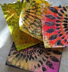 gelli plate monoprinting - february 2013 by gingerblue, via Flickr
