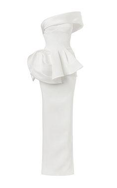 Vigilante Gown In White by Maticevski for Preorder on Moda Operandi