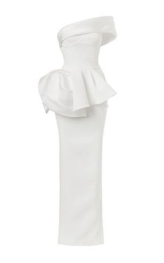 Vigilante Gown In White by Maticevski for Preorder on Moda Operandi