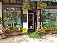 Charming shop front of Davenport Florist at 5 Points; Raleigh.  I heart this shop, the dogs, the owners - it's a happy place worth visiting.  @Davenport@Five