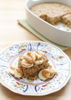 PB Banana Bread Baked Oatmeal recipe by Barefeet In The Kitchen