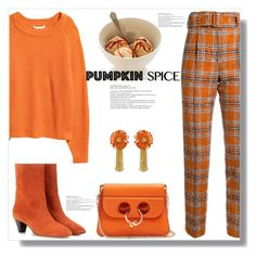 """""""Monochrome: Pumpkin Spice"""" by queenvirgo ❤ liked on Polyvore featuring Taro Horiuchi, Isabel Marant, J.W. Anderson, H&M and Yves Saint Laurent"""