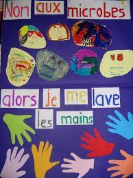 """Image Search Results For """"maternal handwashing poster . French Teaching Resources, Teaching French, Teaching Kids, Les Microbes, Hand Washing Poster, Playdough Activities, French Lessons, Image Search, Maine"""