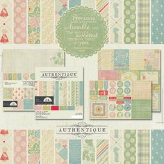 "Precious Collection by Authentique Paper- ""Precious"" is a transitional baby collection spanning from newborns to toddlers, and is usable for boy or girl! The adorable patterns were inspired by favorite quilts and icons from childhood. The designs in the papers and stickers look nostalgic with the use of rich, yet toned-down colors...they are not pastel, but soft...just like all precious little beings we know and love!"