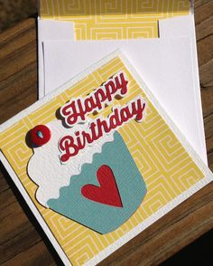 Birthday card by Traci Penrod using Echo Park Sweet Girl paper and cutting files designed by Lori Whitlock.